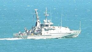 English: HMAS Broome (ACPB 90) in Darwin Harbour