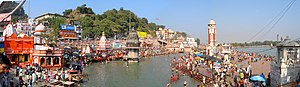 English: Panoramic View of Har ki pauri