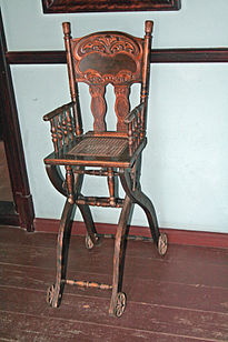 first high chair invented ergonomic gaming with footrest wikipedia