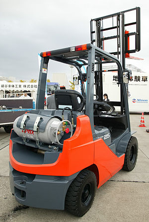 Japanese in-vehicle LPG bottle on Forklift