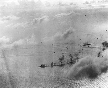 Kongō under attack during the Battle of the Ph...