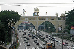 The Kota Darul Ehsan arch, bordering the Kuala...