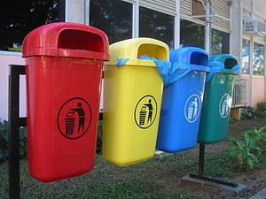 Natal, Brazil. Recycling trash can (UFRN).