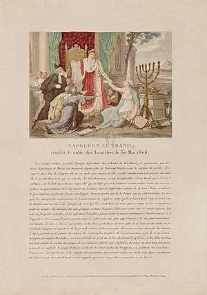 1806 print, in which Napoleon grants the Jews ...