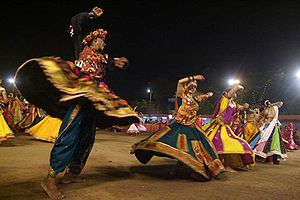 English: Navaratri Garba, Ahmedabad