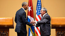 President Castro meets with Barack Obama in Havana, 22 March 2016