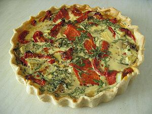 Home made quiche.