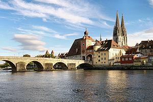 Stone bridge in Regensburg