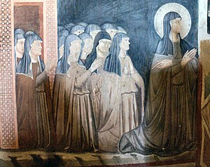 Saint Clare and sisters of her order, San Dami...