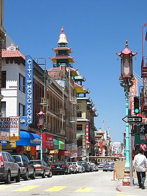 Grant Ave. in Chinatown, San Francisco.