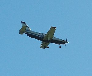 Plane over Hillsboro, Oregon.
