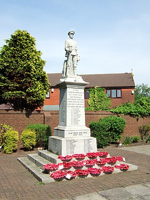 War memorial in Skelmersdale, Lancashire, comm...