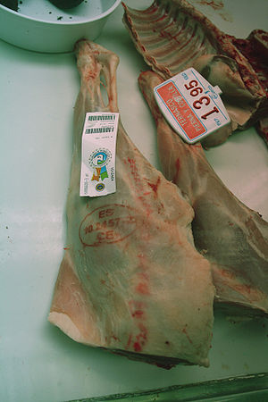 Leg and rack of lamb