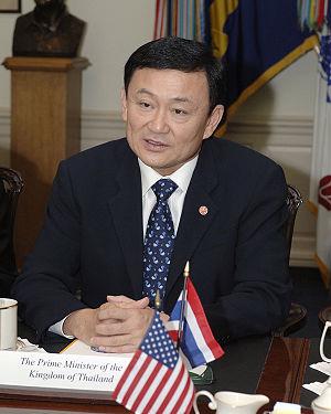 English: Thailand's Prime Minister Thaksin Shi...