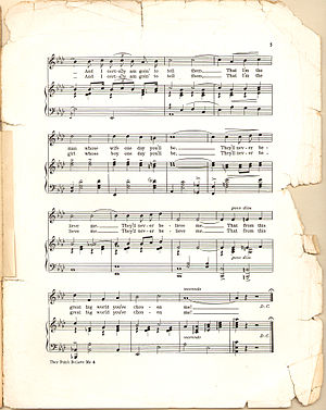 """Sheet music of """"They Didn't Believe Me&qu..."""