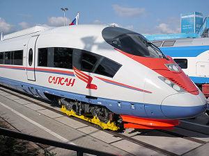 Deutsch: Velaro RUS auf der Innotrans 2008. Ру...