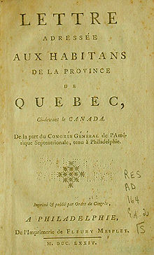 Letters to the inhabitants of Canada  Wikipedia