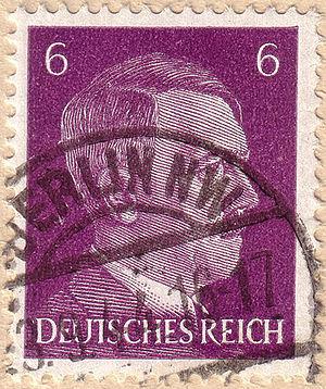 Adolf Hitler, Deutsches Reich 6 pfennig - 23.9...