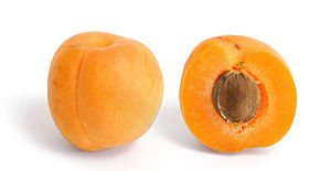 An apricot and its cross section