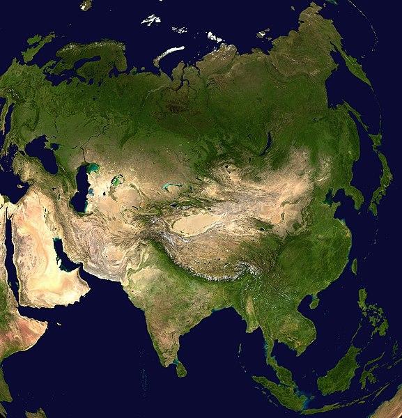 Azja – zdjęcie satelitarne