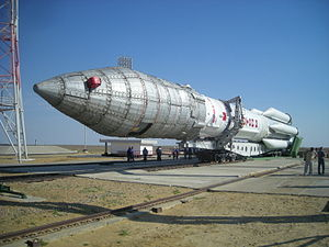 "A newly ""rolled out"" Proton-M, carry..."