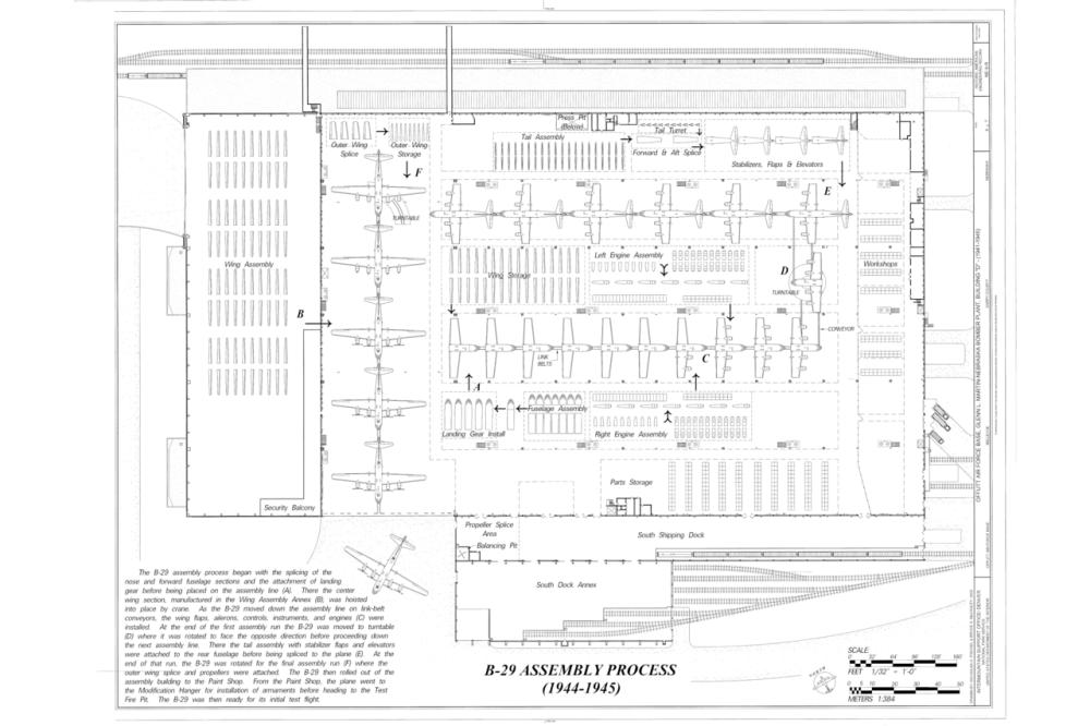 medium resolution of file b 29 assembly process offutt air force base glenn l martin nebraska bomber plant building d peacekeeper drive bellevue sarpy county