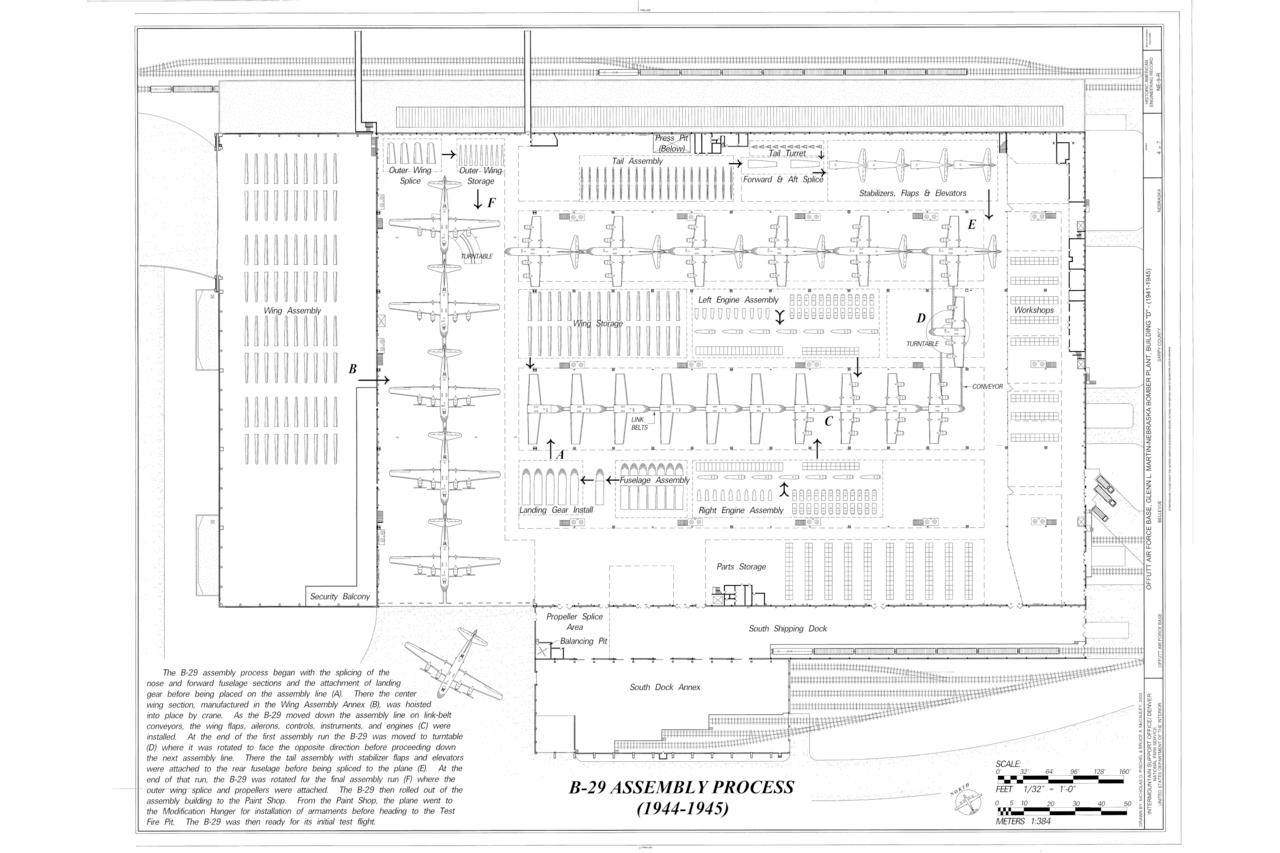 hight resolution of file b 29 assembly process offutt air force base glenn l martin nebraska bomber plant building d peacekeeper drive bellevue sarpy county