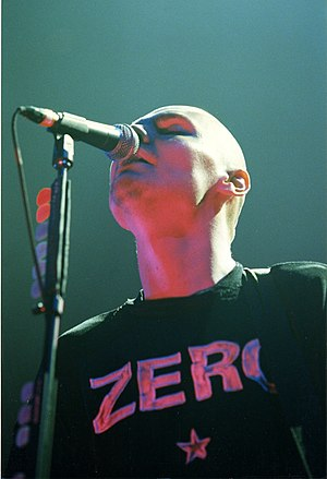 Billy Corgan of the Smashing Pumpkins.