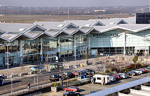 Terminal 2 at Birmingham International Airport...