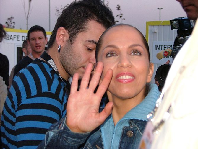 Sertab Erener at the Eurovision Song Contest i...
