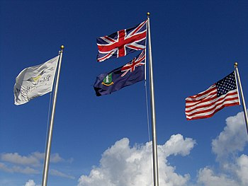 Flags on Peter Island. (Interesting fact about...
