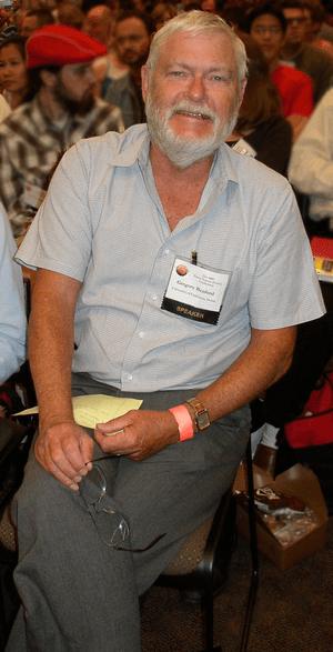 Greg Benford at the 2008 University of Califor...