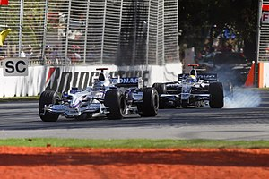 Nick Heidfeld and Nico Rosberg at the 2008 Aus...