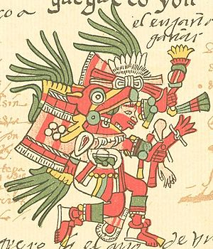 Huehecóyotl in the Codex Telleriano-Remensis.