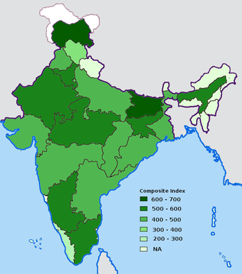 Extent of corruption in Indian states, as meas...