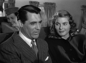 This screenshot shows Ingrid Bergman and Cary ...