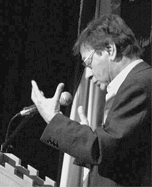 Mahmoud Darwish at university of betlehem.