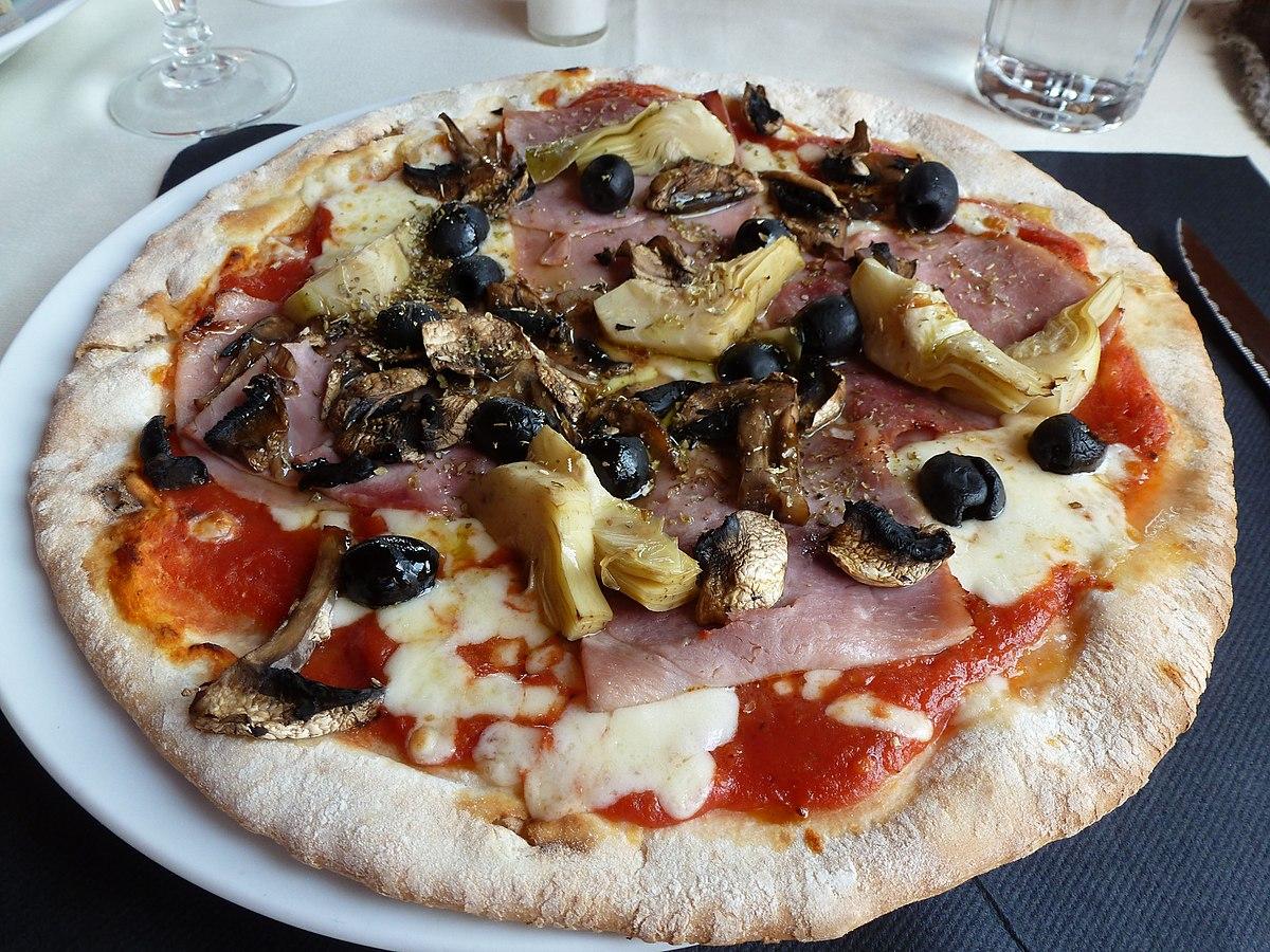 Pizza capricciosa  Wikipedia den frie encyklopdi
