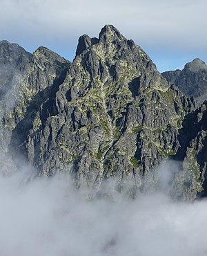 Prostredný hrot mountain, Tatra Mountains, Slo...