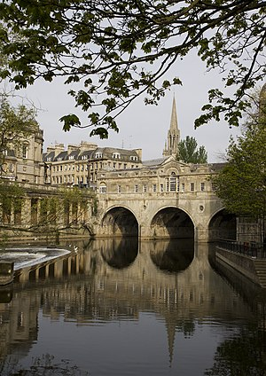 Pulteney Bridge, Bath, UK.