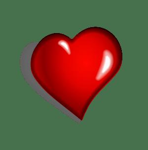 English: Red heart clip art