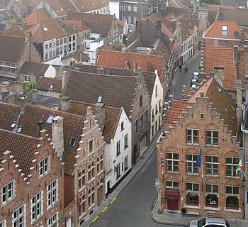 English: The roofs of Bruges (Belgium) Nederla...