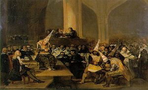 Inquisition Scene by Francisco Goya. The Spani...