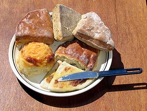 A variety of Scottish scones.
