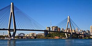 Anzac Bridge & Sydney harbour Bridge from Gleb...