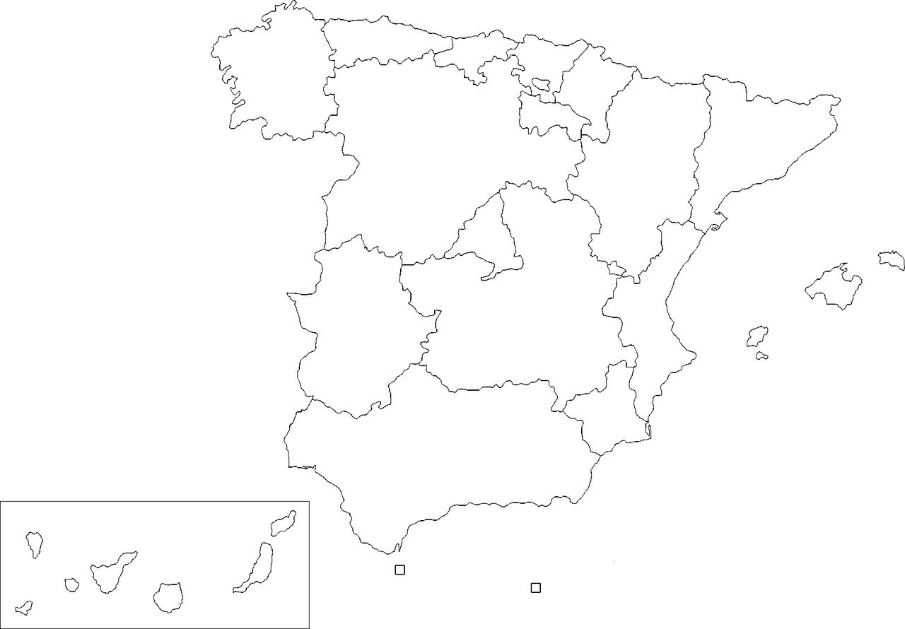 Blank Map Of Spain Regions.Regions Map Blank Spain