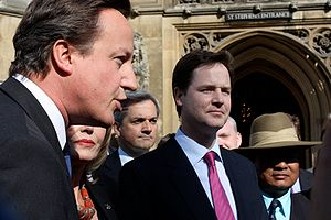 English: Nick Clegg and other MPs