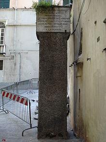 Colonna infame Genova  Wikipedia