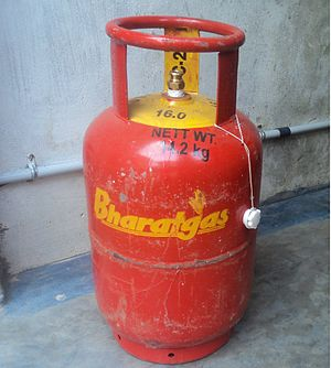 Bharat (LPG) gas cylinder of Tamil Nadu, India...