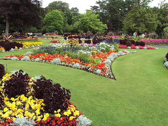 flower garden at the botanic gardens churchtown southport merseyside england